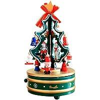 Konfaクリスマスクリエイティブ夢の木製カルーセル音楽ボックスeight-box Gift for Girls レッド