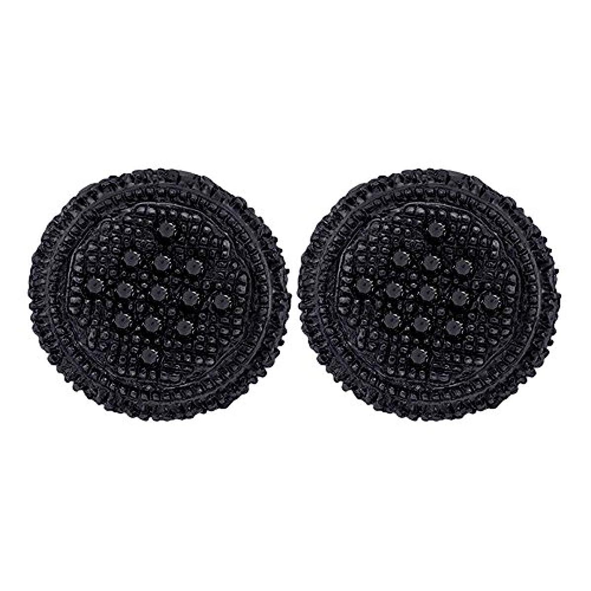 さらに国旗サルベージ10 KTイエローblack-toneゴールドメンズラウンドブラックカラーEnhancedダイヤモンド3d円クラスタイヤリング1 / 4 cttw