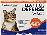 21st Century Health Care, Flea + Tick Defense for Cats 8 Weeks or Older, 3 Applicators, 0.017 fl oz Each
