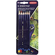 Derwent Colored Pencils, Inktense Ink Pencils, Drawing, Art, Pack, 6 Count (0700927) (Renewed)