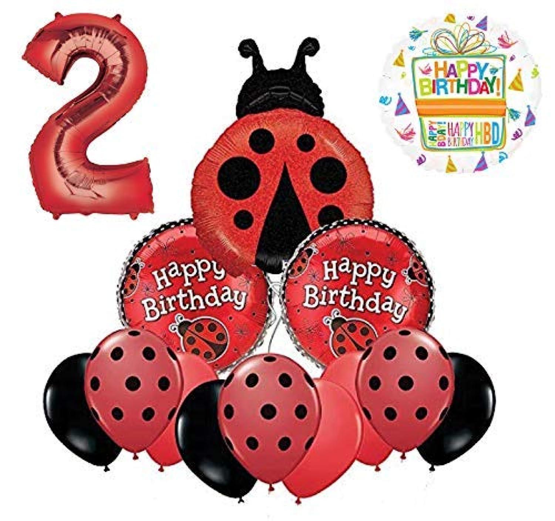 Mayflower Products てんとう虫 2歳の誕生日パーティー用品 バルーンブーケデコレーション