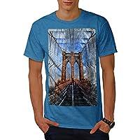 Wellcoda 大都市 シティ NYC 都市 男性用 ロイヤルブルー 5XL Tシャツ