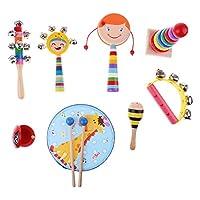 Fityle 音楽教材 子供 初期教育 教育援助 楽器おもちゃ ギフト 全3選択 - 8個