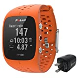 Polar m430Advanced Running GPS watch with wrist-basedハートレートモニター、wearable4u壁充電アダプタバンドル オレンジ