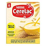 Nestle Cerelac Fortified Baby Cereal with Milk, Wheat - From 6 Months, 300g BIB Pack