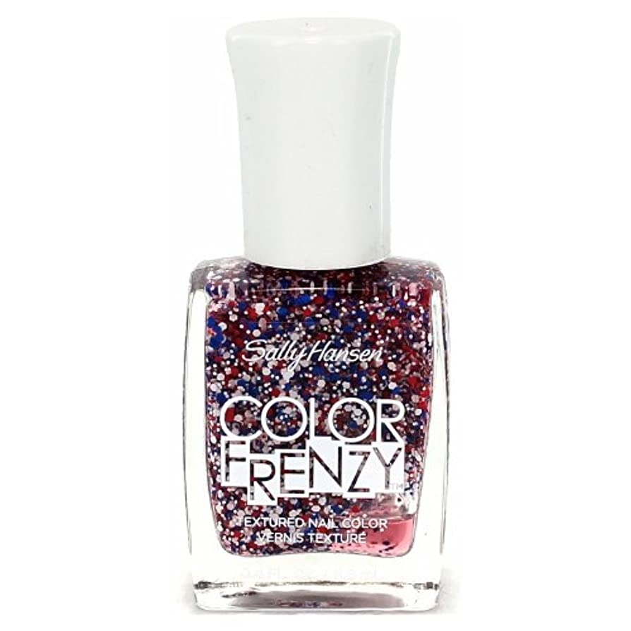 (6 Pack) SALLY HANSEN Color Frenzy Textured Nail Color - Red White & Hue (並行輸入品)