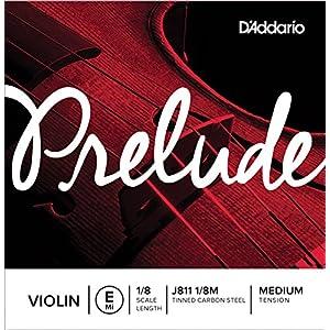 D'Addario ダダリオ バイオリン用 バラ弦 Prelude E線 J811 1/8M Medium Tension 【国内正規品】