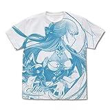 白猫プロジェクト アイリス オールプリントTシャツ/WHITE-M