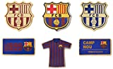 FC BARCELONA FCバルセロナ オフィシャル ピンバッジ 6点セット(専用BOX入り)