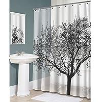 stpkshop 180 x 180 CM Projeto Da Árvore de poliéster Cortina de banho de Chuveiro Do banheiro ± PROVA D ' Água Livre 12 Ganchos t31