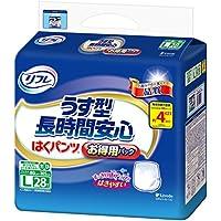 リフレ はくパンツ 長時間安心 4回分吸収 大人 紙おむつ 尿漏れ はきやすい Lサイズ 28枚入