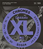 D'Addario ECG24 フラットワウンド エレキギター弦×3セット