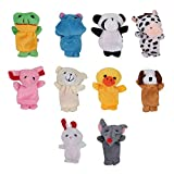 ReFaXi 10個/セットかわいい漫画動物指Hand Puppets Toys for Kids Children