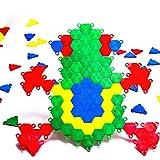 子供3-12プラスチック製の360ピースステッチ一緒にビルディングブロックパズル解体子供のおもちゃ パズルビルディングブロックのおもちゃ (Color : Multi-colored, Size : One size)