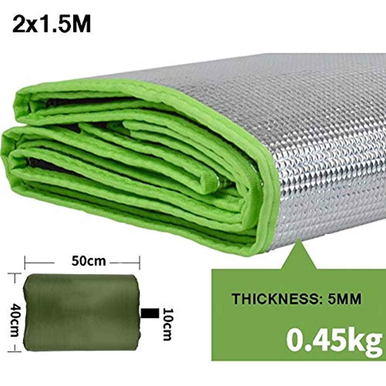準備する酸化する麻痺キャンプマットマット?パッド 屋外パティオキャンプマットの敷物中庭のカーペット屋内/屋外エリアの敷物の汚れ抵抗力がある湿気防止の防水緑 (Size : 2X1.5M)