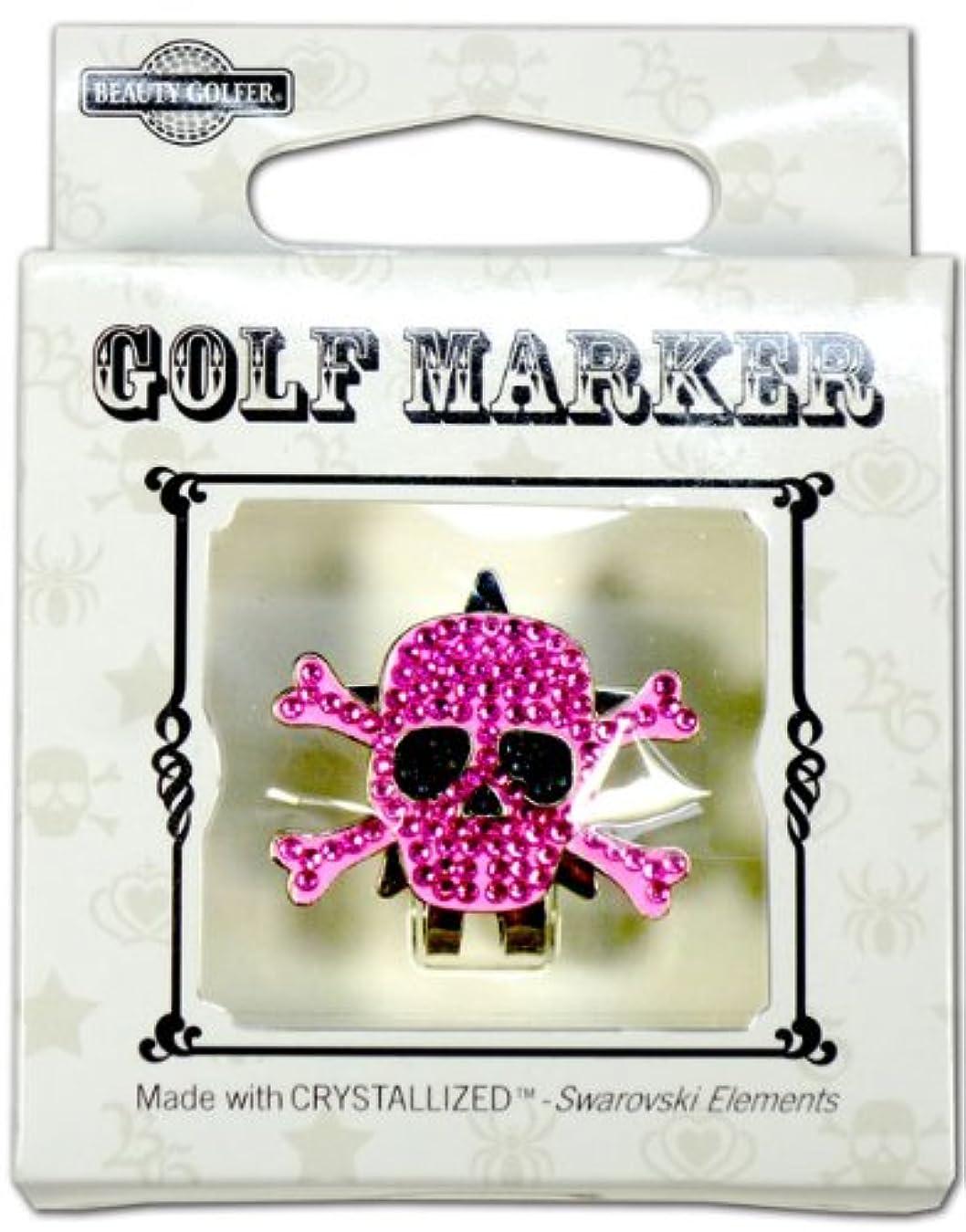 猟犬思いつく汚染ゴルフ マーカー BG-17 ドクロ ムラサキ