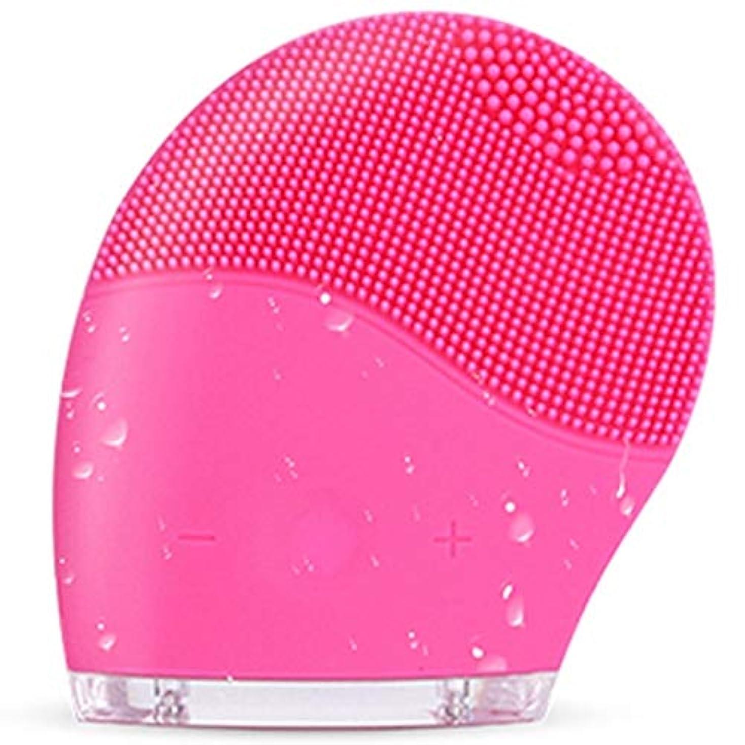 スナック未接続ブースすべての肌タイプのディープクレンジング、スクラブ、およびにきびを減らすためのシリコンフェイスクレンジングブラシ、防水アンチエイジング超音波フェイシャルブラシ、ディープエクスフォリエーターメイクアップツール (Color...
