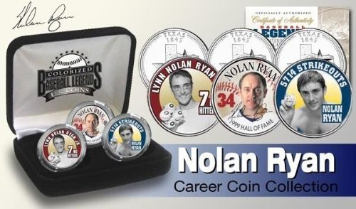 NOLAN RYAN TEXAS STATEHOOD QUARTER CAREER SIGNATURE 3 COIN SET! RANGERS/ASTROS! W/H CASE! by Mint [並行輸入品]