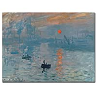 Trademark Fine Art Impression Sunrise Claude Monet キャンバスウォールアート 24 by 32-Inch BL0001-C2432GG