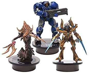 [STARCRAFT 2 KOTOBUKIYA] TERRAN (Marine), PROTOSS (Zealot) , HYDRALISK (Zerg) Bottle Cap Figure Collection Miniature 3 pcs Set by KOTOBUKIYA [並行輸入品]