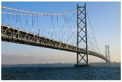 兵庫県 淡路市 明石海峡大橋のポストカード葉書はがき Photo by絶景.com