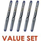 Pilot V Pen (Varsity) Disposable Fountain Pens Blue Ink Medium Point Value Set of 5(With Our Shop Original Product Description)