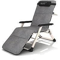 ZHIRONG Foldable Chaiseラウンジチェアガーデンサンラウンジャー、ヘビーデューティテクトリンゼロ重力デスクチェア、キャンプ/パティオ/ビーチ用調節可能なピロー付きポータブル屋外パティオリクライニングローンチェア (色 : Chair+cushion)