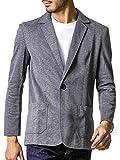 liberte riche(リベルテ リッシュ) メンズ ジャケット テーラードジャケット スウェット ビジネス カジュアル 細身 ストレッチ 6color 5サイズ展開 ダークグレー XL