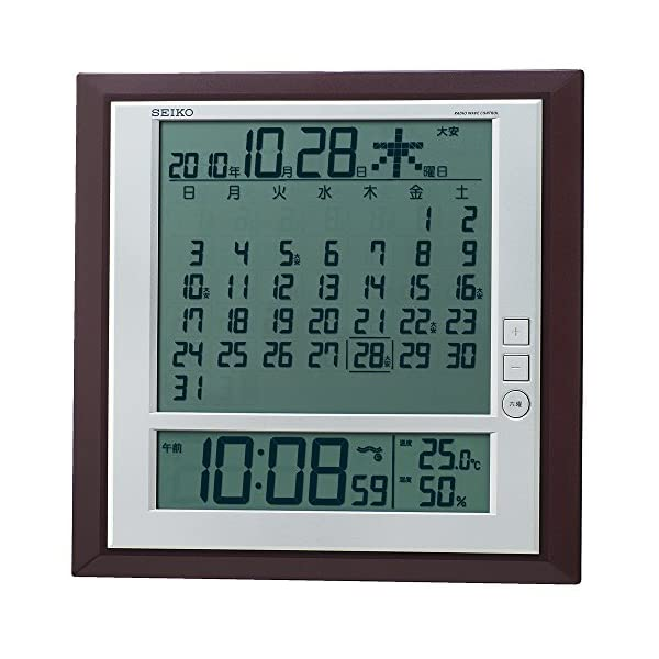 セイコー クロック 掛け時計 置き時計 兼用 月...の商品画像