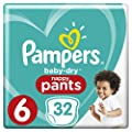 Pampers Baby-Dry Nappy Pants Size 6 Junior (15kg+), 32…