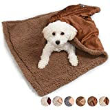 "Pawsse Dog Blanket,Super Soft Sherpa Pet Blankets and Throws Sleeping Mat for Small Medium Doggies Puppy Animals 45""x30"""