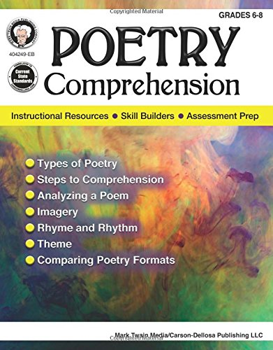 Poetry Comprehension Grades 6 - 8: Instruction, Practice, Assessment
