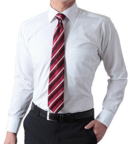 【袖丈・首周りが選べる36サイズの品揃え】 洗える 形態安定加工 長袖 セミワイドカラー ワイシャツ ホワイト無地 S(37)-80