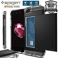 【Spigen】 iPhone8 Plus ケース / iPhone7 Plus ケース MIL規格取得 ICカード収納 衝撃吸収 クリスタル・ウォレット 043CS21051 (ジェット・ホワイト)