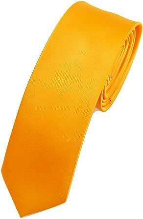 ネクタイ【EIKA】色んな色から選べるお得なシルク光沢無地細ネクタイ