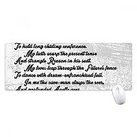 詩の引用のトラのバラの匂いを嗅ぐ ノンスリップゴムパッドのゲームマウスパッドプレゼント
