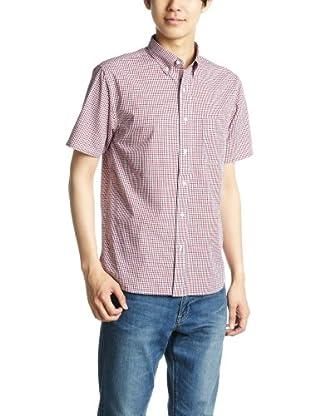 Short Sleeve Gingham Buttondown Shirt 38-01-0003-139