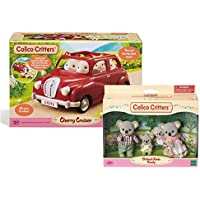 Calico Critters Outback Koala Family with Cherry Cruiser and Accessories