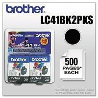 BRTLC41BK2PKS - ブラザーブラックインクカートリッジ。