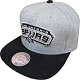 Mitchell & Ness NBA San Antonio Spurs VO59Z Heather Micro Snapback Cap Basecap