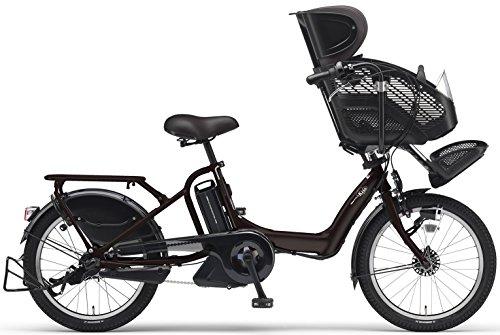 YAMAHA(ヤマハ) PAS Kiss mini チャイルドシート付き電動自転車 20インチ 2015年モデル [8.7Ahリチウムイオン電池、トリプルセンサーシステム、急速充電器付] マットカカオ PM20K