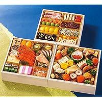 富山 五万石千里山荘 おせち料理 2019 三段重 45品 盛り付け済み 冷蔵おせち お届け日:12月31日