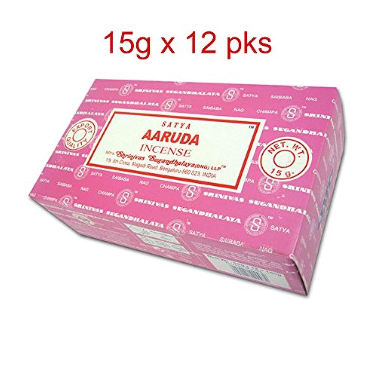 署名激怒日付Satya Nag Champa aaruda Incense sticks-12packs X 15グラム( 1 )