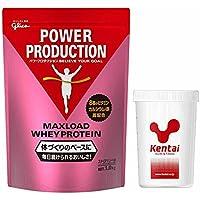 Glico(グリコ)Kentai(ケンタイ) グリコ マックスロードホエイプロテイン1.0kg ストロベリー味+Kentaiプロテインシェーカーセット G76010-K005