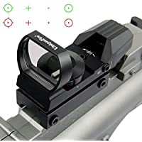 Uniquefire オープン式ライフルサイトスコープ レックスドットサイト JH400 赤・緑 ダットサイト レティクル4種 レッド/グリーン 照準器 20mm 対応