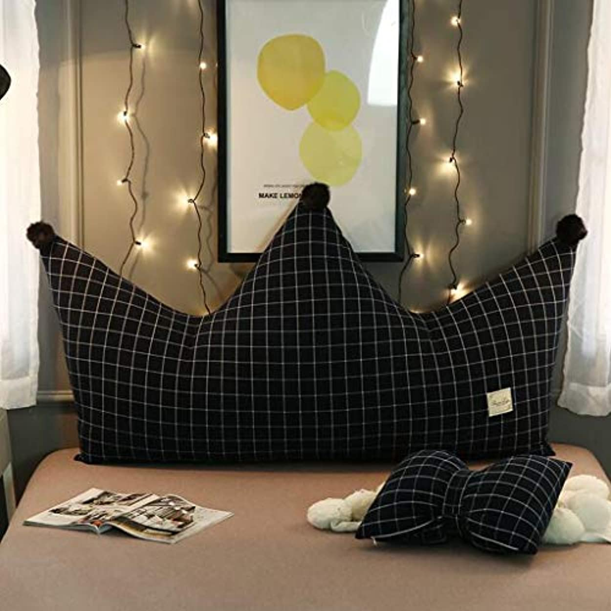 青原子ポルトガル語クラウンピローベッド枕寝室ソフトバッグ王女風ベッドヘッドクッション大背もたれシンプルモダン JSSFQK (Color : C, Size : 150cm)