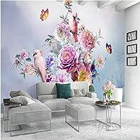 写真の壁紙3D手描きレトロローズオウム壁画リビングルームのベッドルームロマンチックな家の装飾壁画Papel De Parede 300x200cm