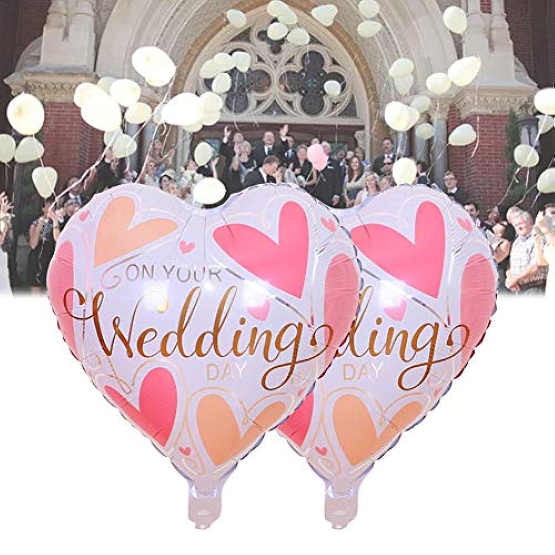 ハート型アルミ 風船 パーティー結婚式 誕生日 バレンタインデー婚約装飾部屋レイアウトピンク愛アルミ箔風船5個入り