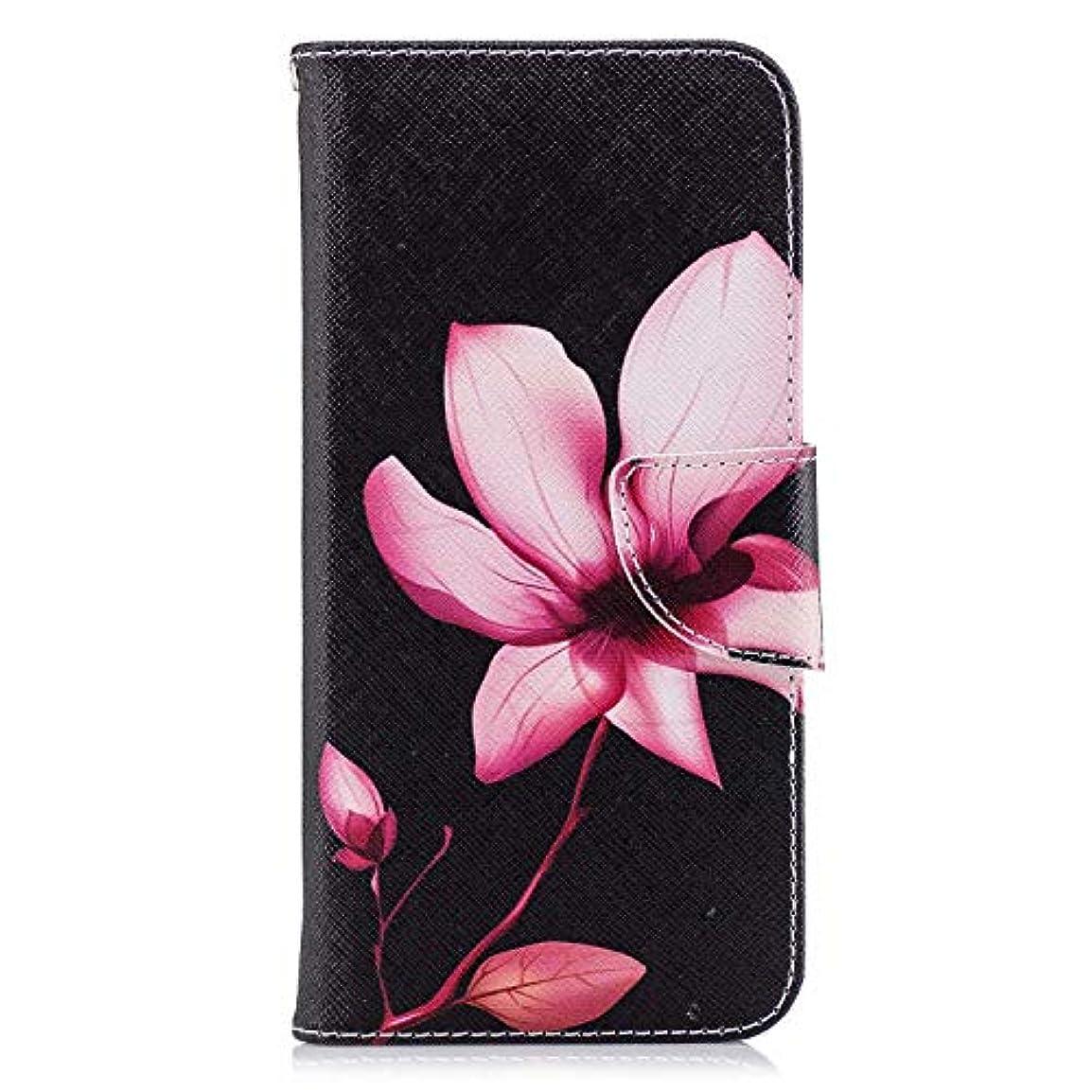 形成痛いオッズOMATENTI Huawei P Smart ケース, ファッション人気 PUレザー 手帳 軽量 電話ケース 耐衝撃性 落下防止 薄型 スマホケースザー 付きスタンド機能, マグネット開閉式 そしてカード収納 Huawei P Smart 用 Case Cover, 花