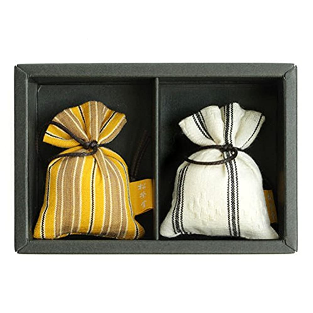 チャネルシアー連鎖匂い袋 誰が袖 ルリック(縞) 2個入 松栄堂 Shoyeido 本体長さ60mm (色?柄は選べません)